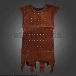 Bras d'armure en cuir lamellé